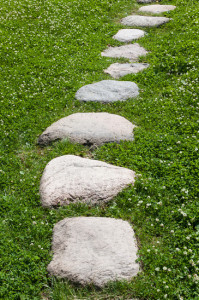 Granite stone pathway