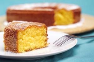 slice of soft cake